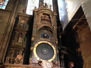 clock Notre Dame Cathedral Strasbourg