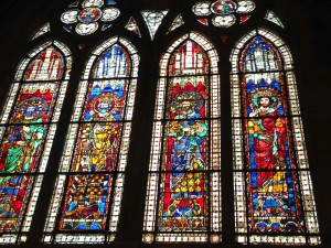 stained glass Notre Dame Cathedral Strasbourg