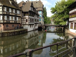 Tudor houses on river