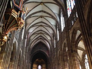 vaulted ceiling Notre Dame Cathedral Strasbourg